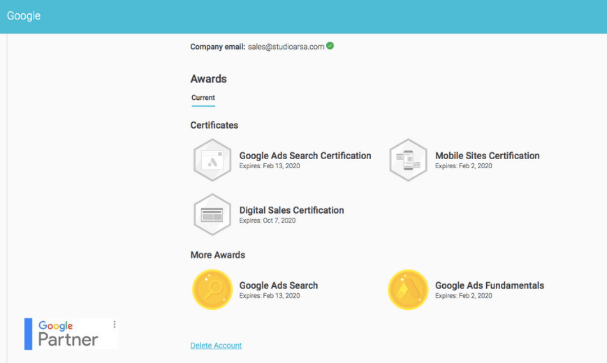 Certificados Arsa